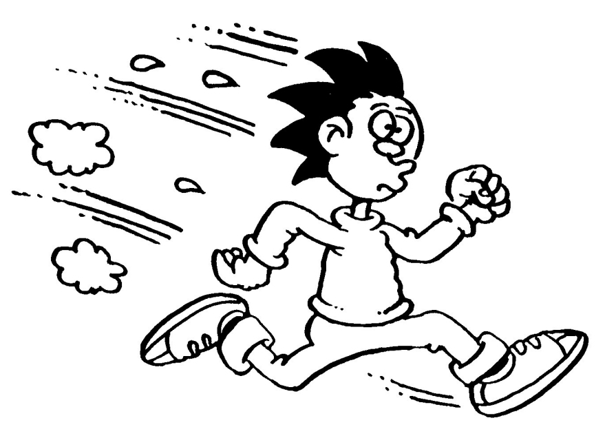 People running for their lives clipart
